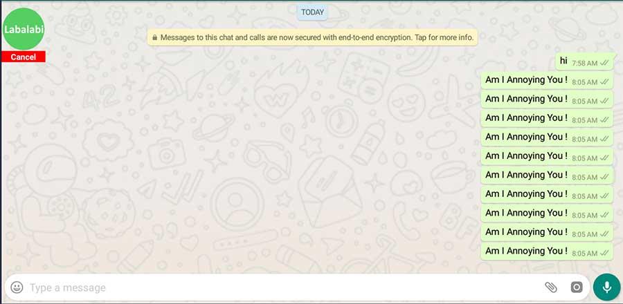 labalabi annoying message send