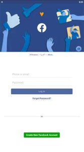 facebook login screenshot