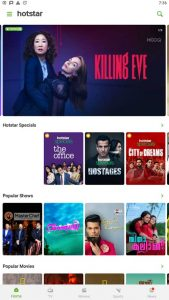hotstar home page