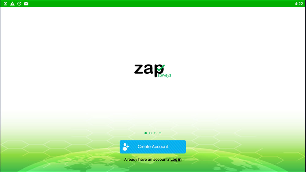 zap surveys create account