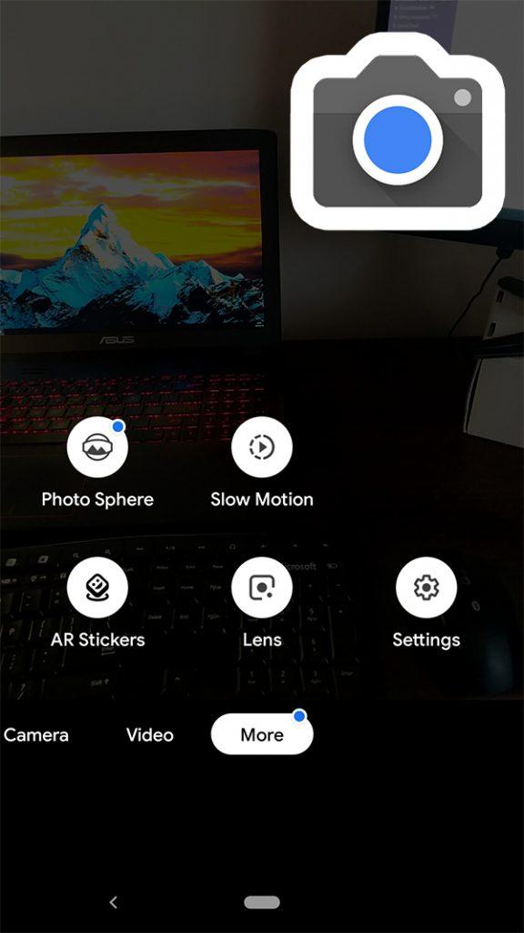pixel camera more options