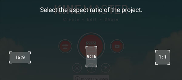 kinemaster video aspect ratios
